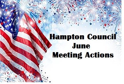 July 4th_ - June Council agenda matters