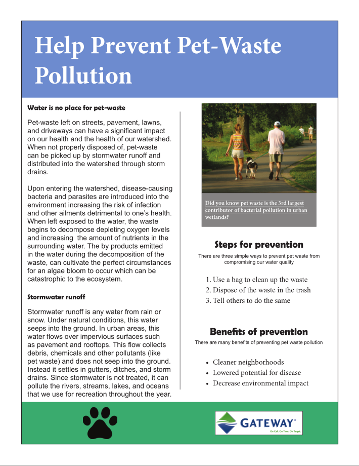 Help Prevent Pet Waste Article